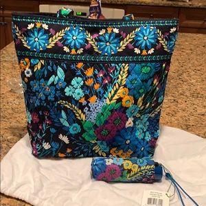 Vera Bradley tote bag and mini travel umbrella